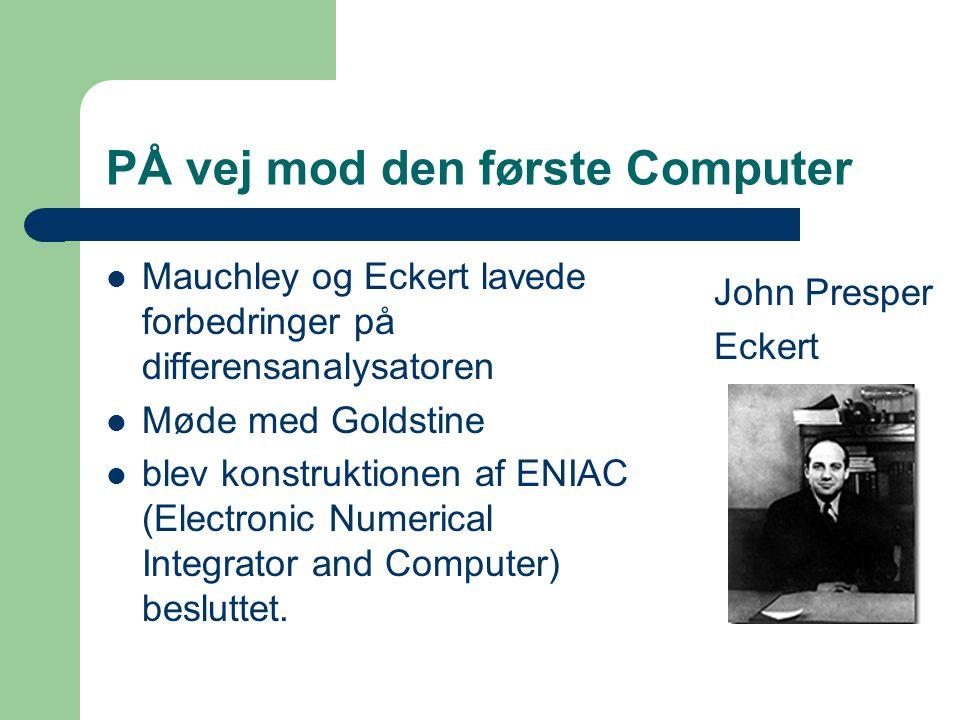 PÅ vej mod den første Computer