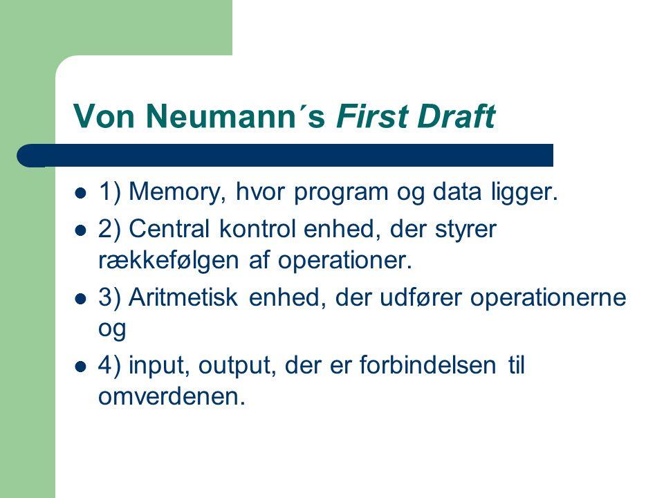 Von Neumann´s First Draft