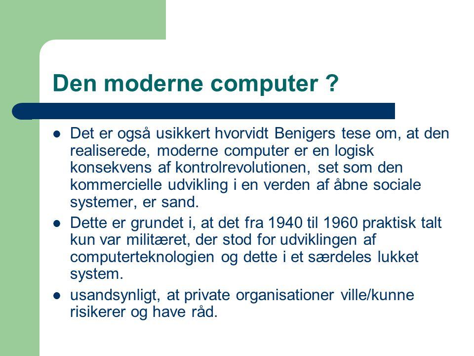 Den moderne computer