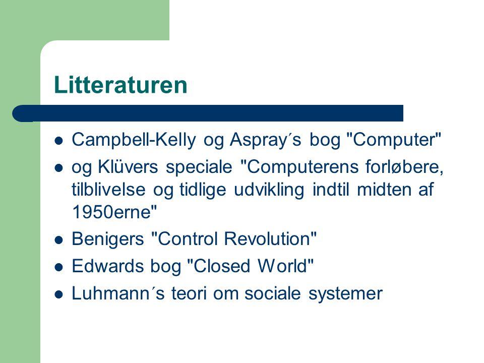 Litteraturen Campbell-Kelly og Aspray´s bog Computer