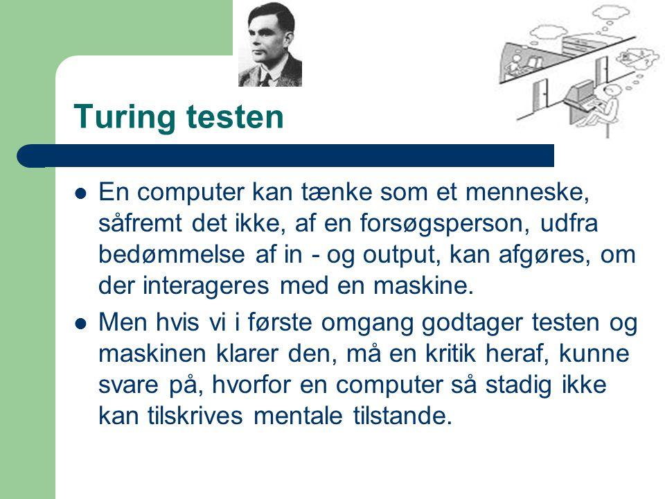 Turing testen