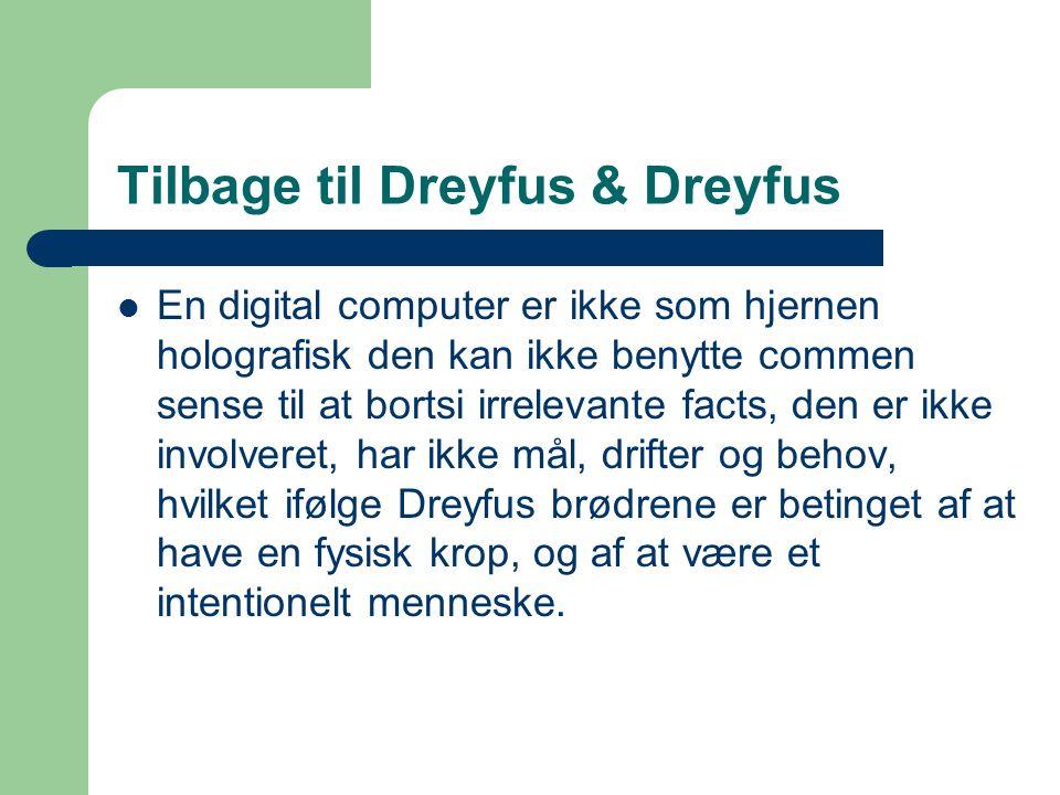 Tilbage til Dreyfus & Dreyfus