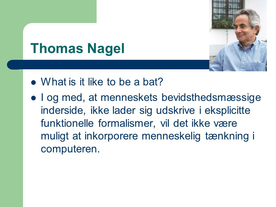 Thomas Nagel What is it like to be a bat