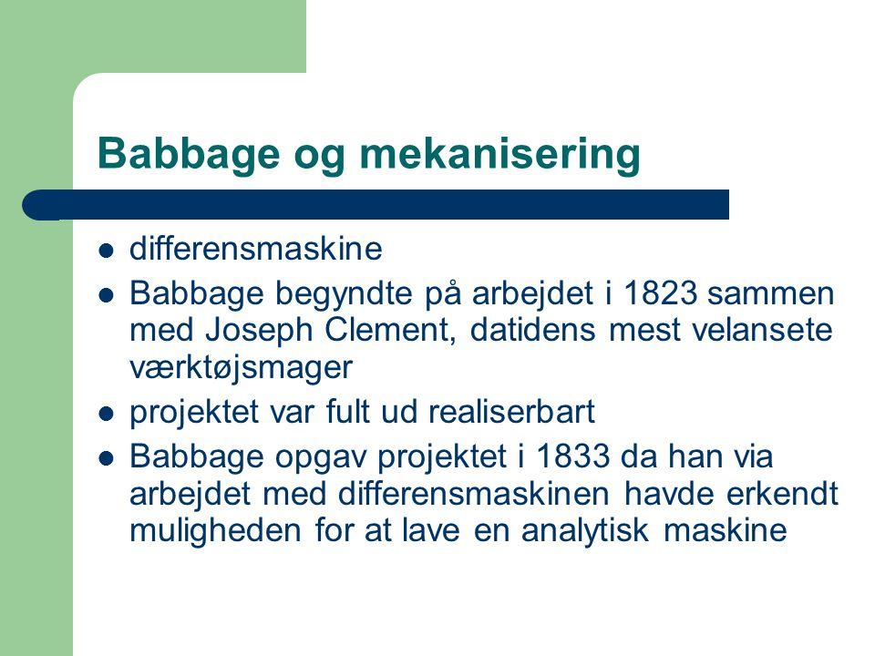 Babbage og mekanisering