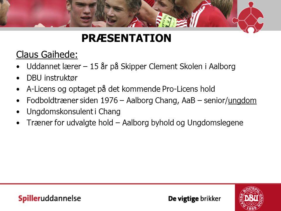 PRÆSENTATION Claus Gaihede: