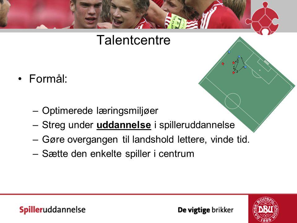 Talentcentre Formål: Optimerede læringsmiljøer