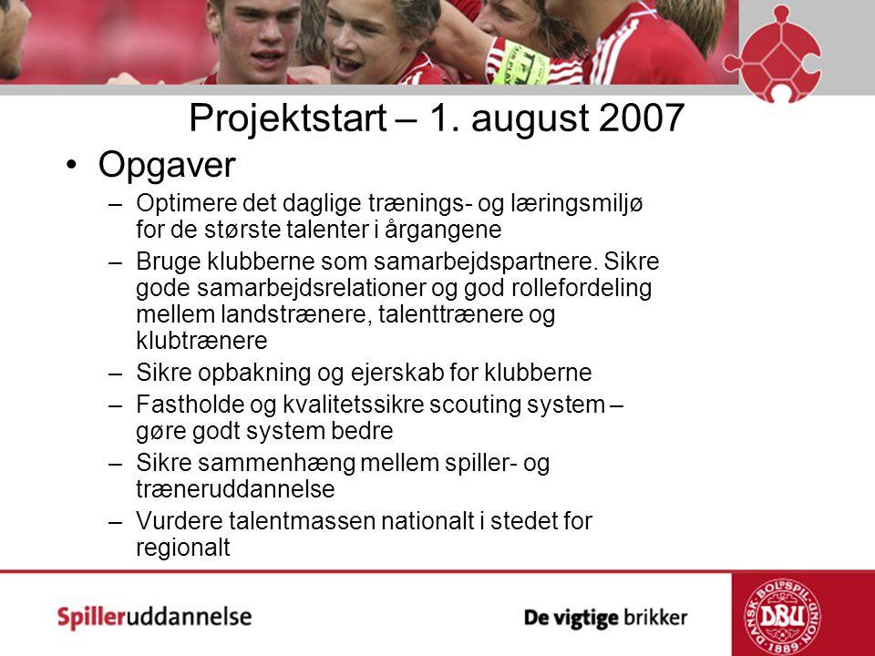 Projektstart – 1. august 2007 Opgaver