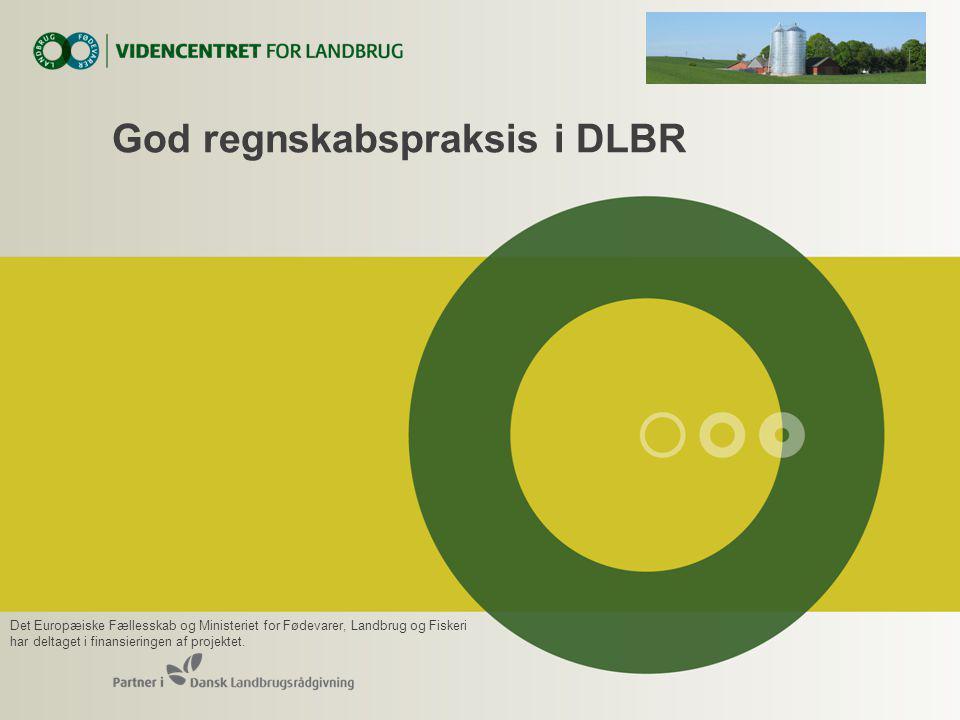 God regnskabspraksis i DLBR