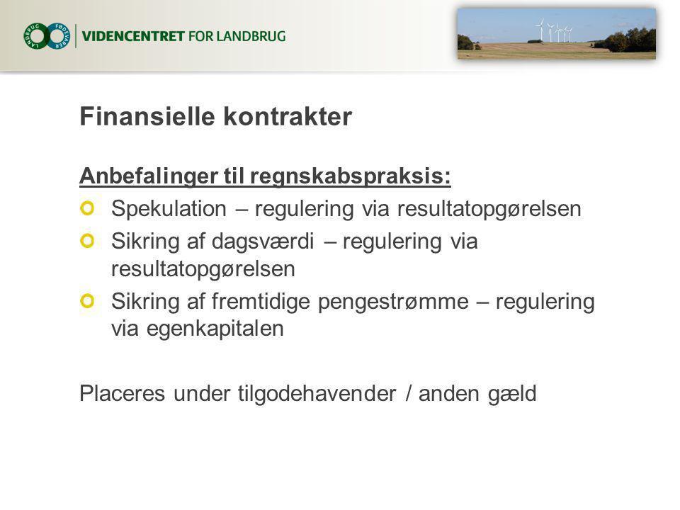Finansielle kontrakter