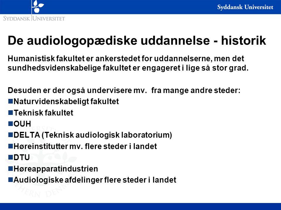De audiologopædiske uddannelse - historik