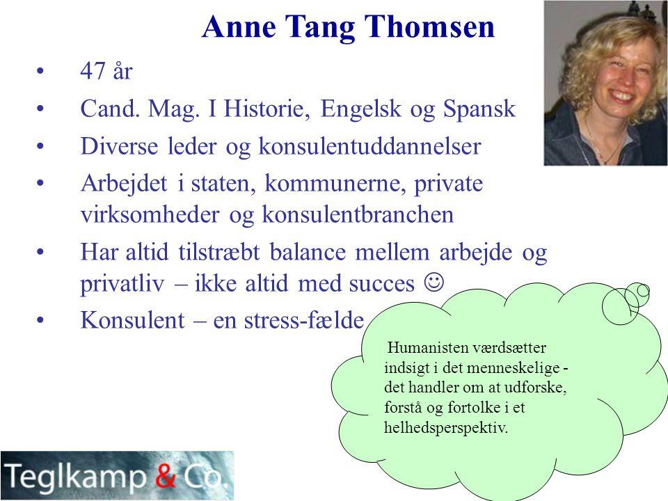 Anne Tang Thomsen 47 år Cand. Mag. I Historie, Engelsk og Spansk
