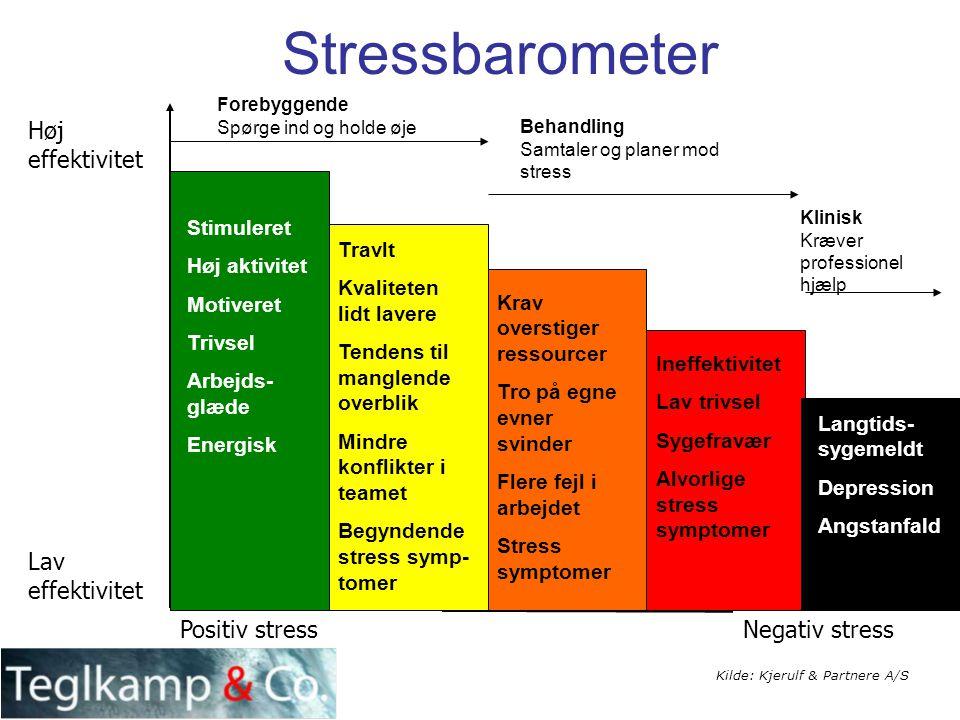 Stressbarometer Høj effektivitet Lav effektivitet Positiv stress