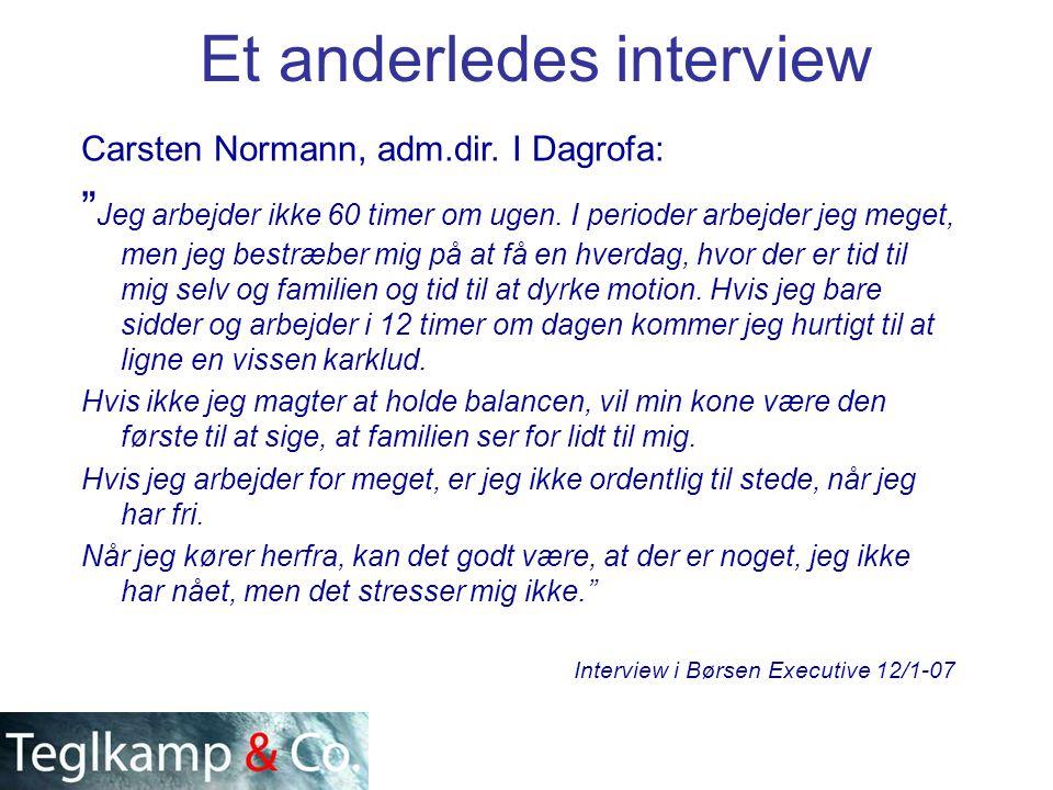 Et anderledes interview