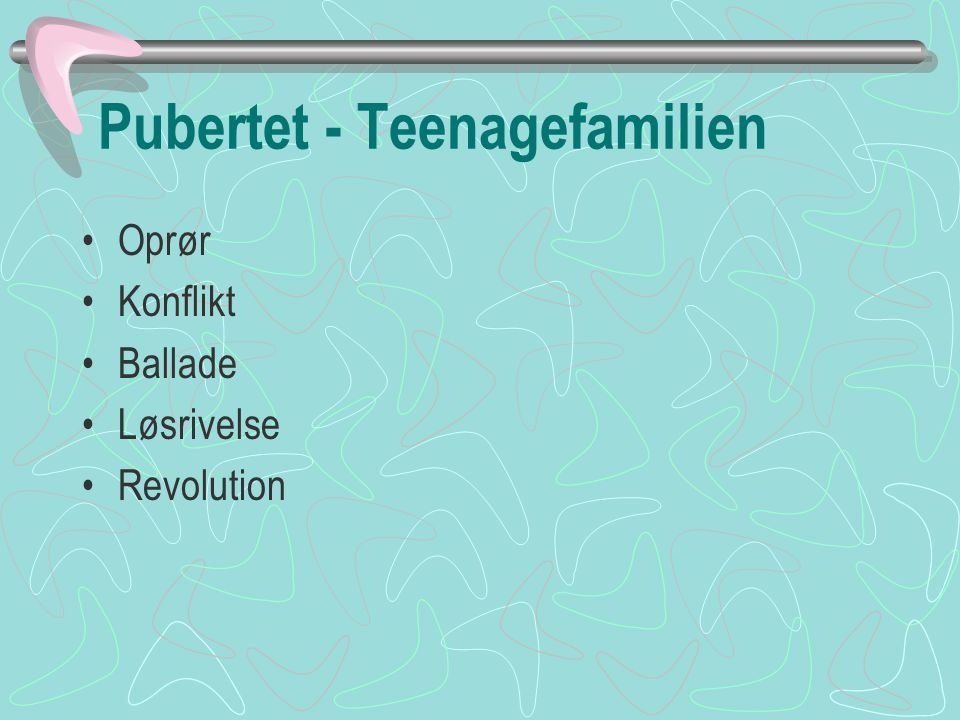 Pubertet - Teenagefamilien