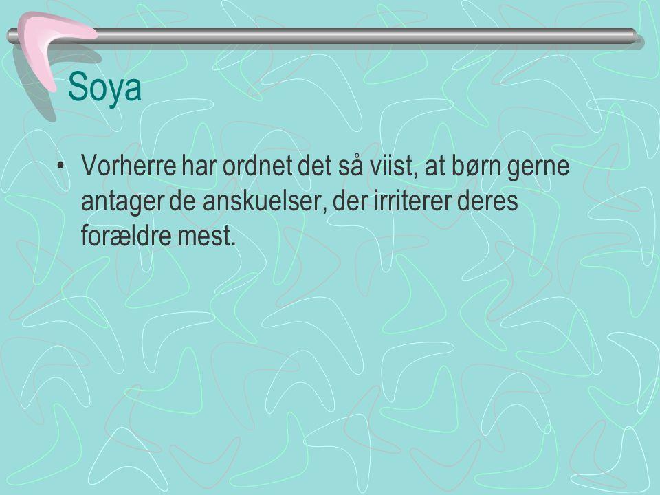 Soya Vorherre har ordnet det så viist, at børn gerne antager de anskuelser, der irriterer deres forældre mest.