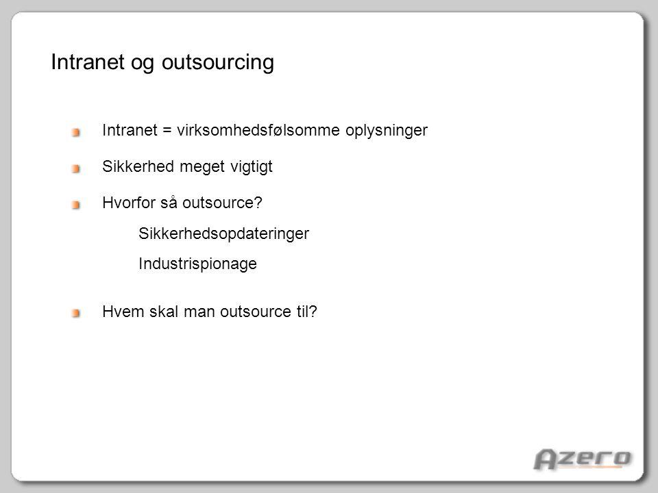 Intranet og outsourcing