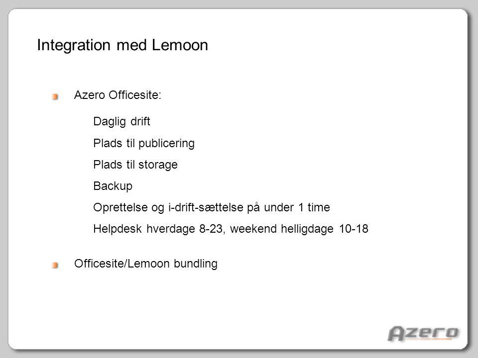 Integration med Lemoon