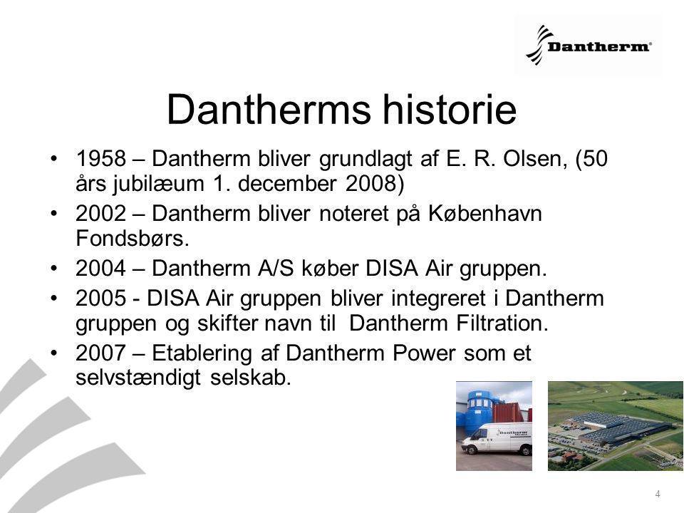 Dantherms historie 1958 – Dantherm bliver grundlagt af E. R. Olsen, (50 års jubilæum 1. december 2008)