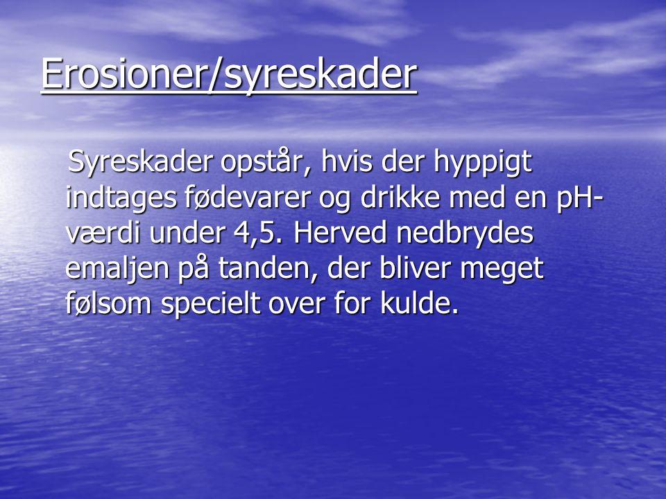 Erosioner/syreskader