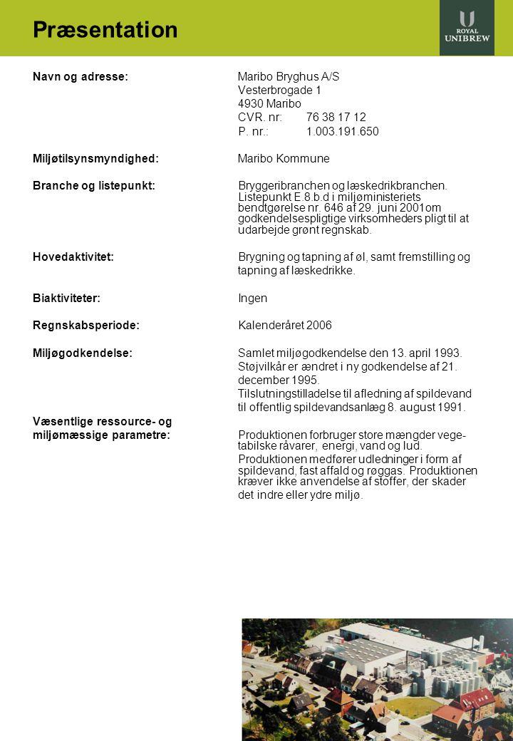 Præsentation Navn og adresse: Maribo Bryghus A/S Vesterbrogade 1