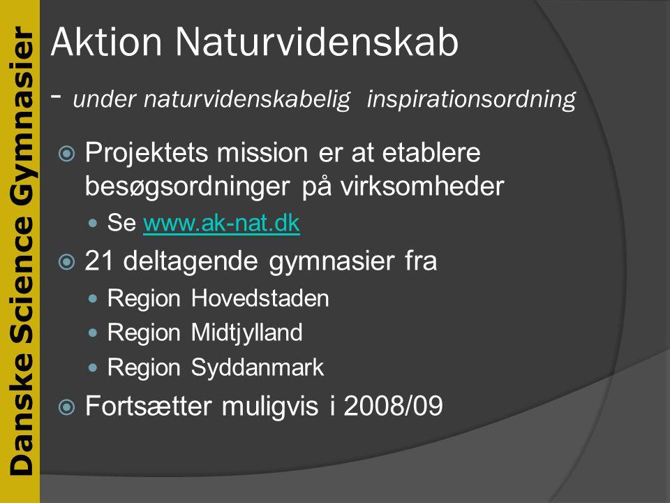 Aktion Naturvidenskab - under naturvidenskabelig inspirationsordning