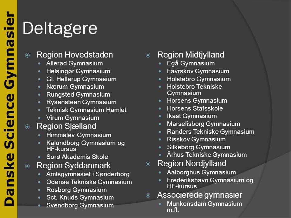 Deltagere Region Hovedstaden Region Sjælland Region Syddanmark