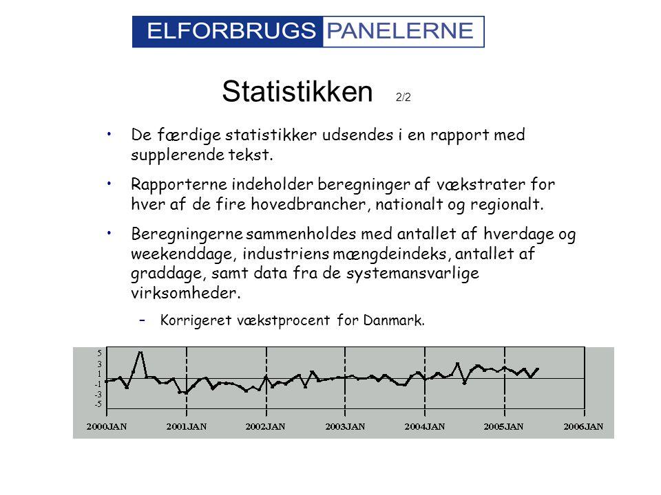 Statistikken 2/2 De færdige statistikker udsendes i en rapport med supplerende tekst.