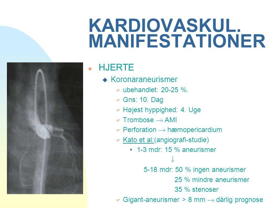 KARDIOVASKUL. MANIFESTATIONER