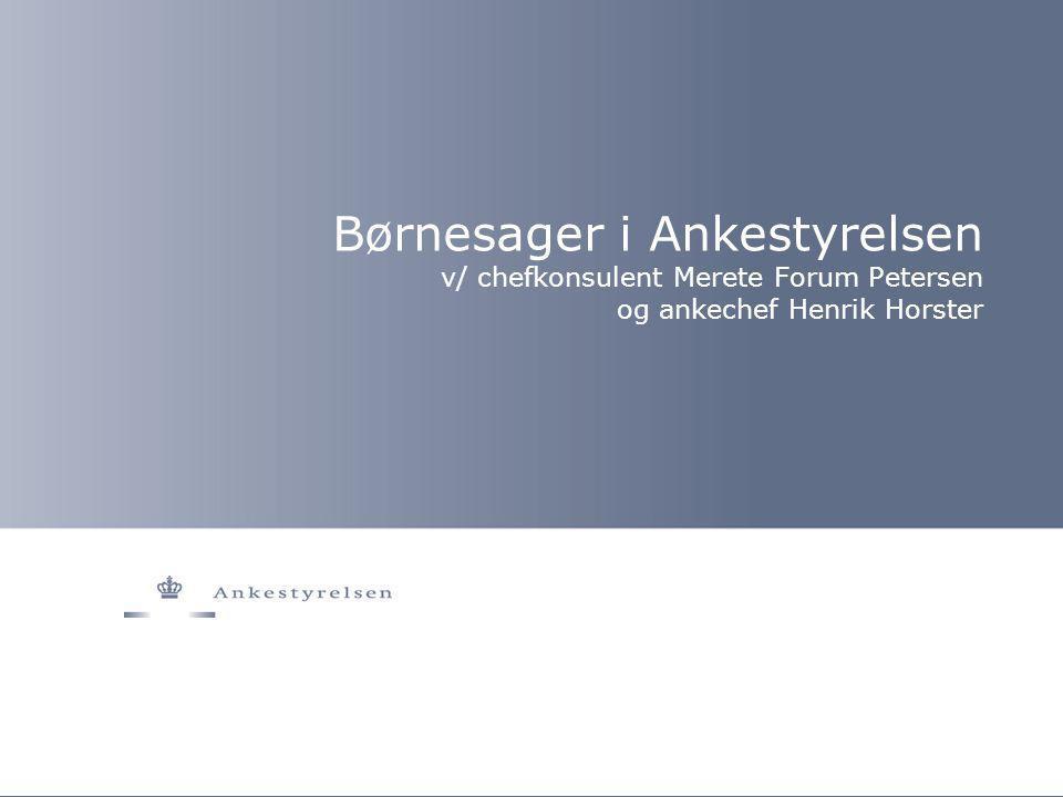 Børnesager i Ankestyrelsen v/ chefkonsulent Merete Forum Petersen og ankechef Henrik Horster