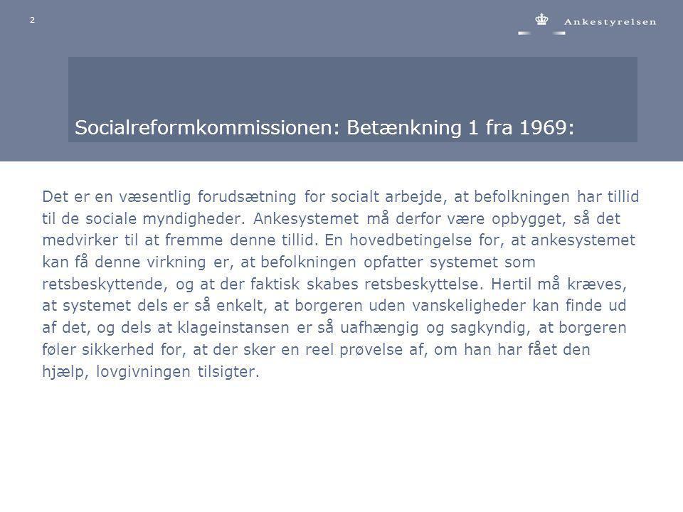 Socialreformkommissionen: Betænkning 1 fra 1969: