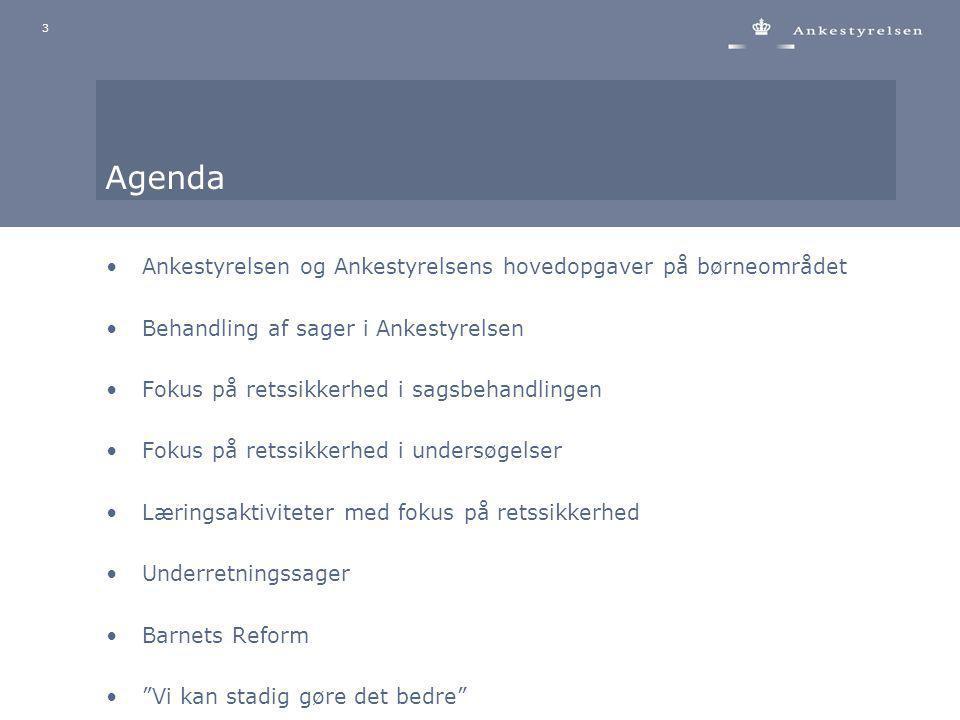 Agenda Ankestyrelsen og Ankestyrelsens hovedopgaver på børneområdet