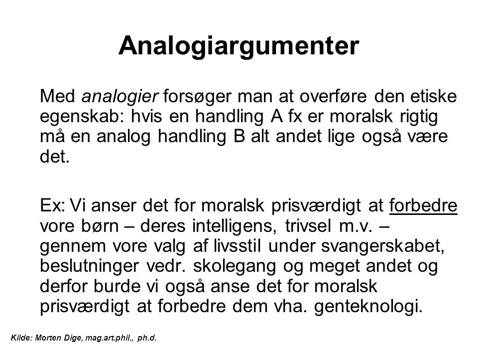 Analogiargumenter