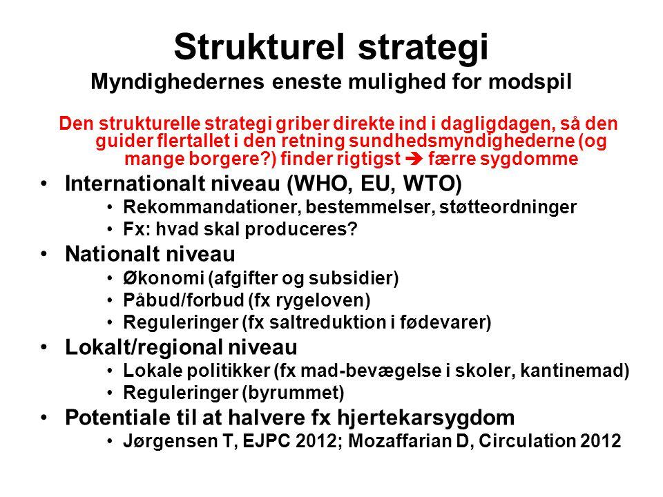 Strukturel strategi Myndighedernes eneste mulighed for modspil