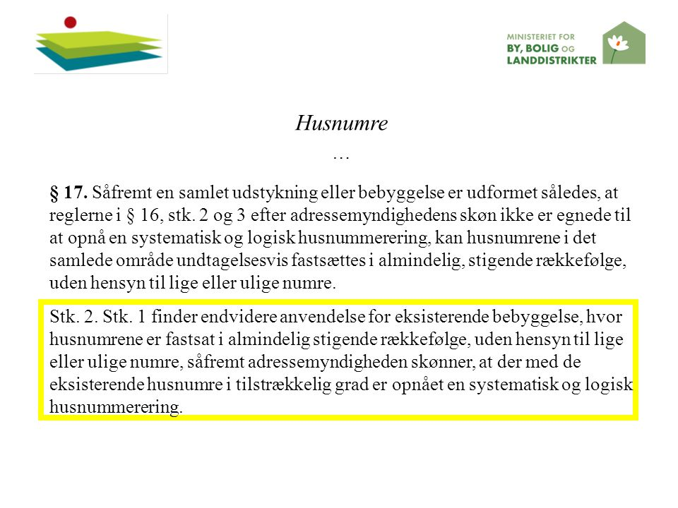 Husnumre …