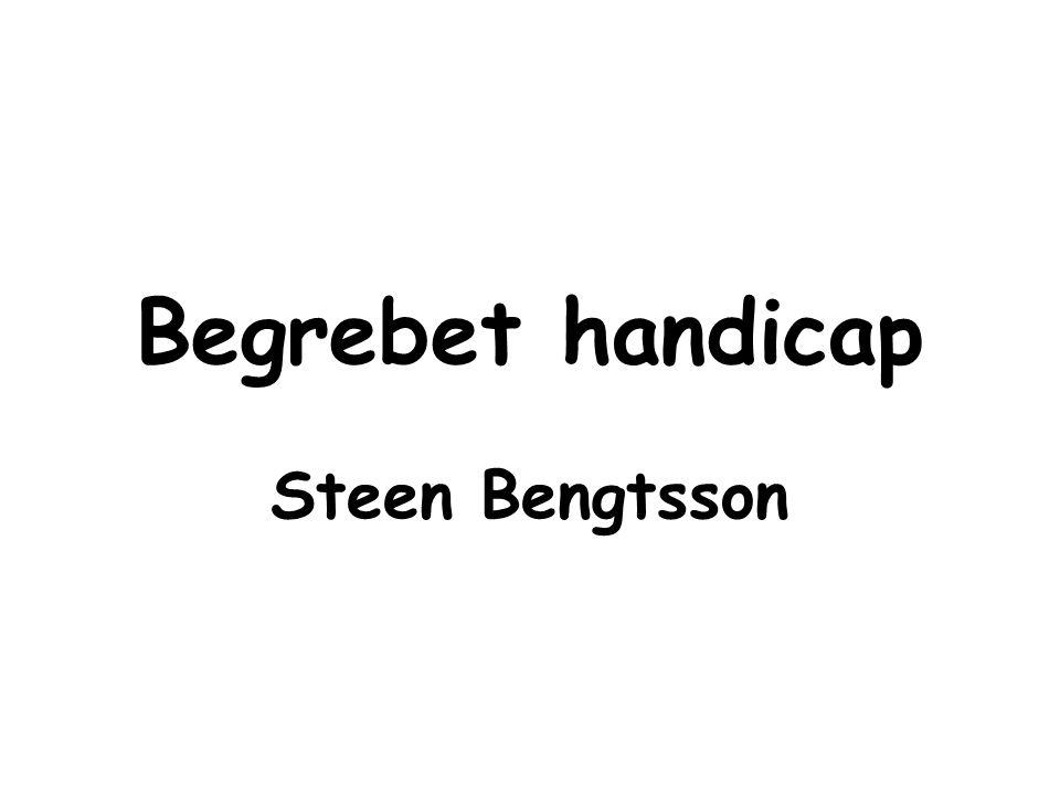 Begrebet handicap Steen Bengtsson