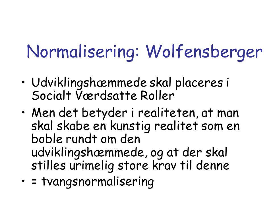 Normalisering: Wolfensberger