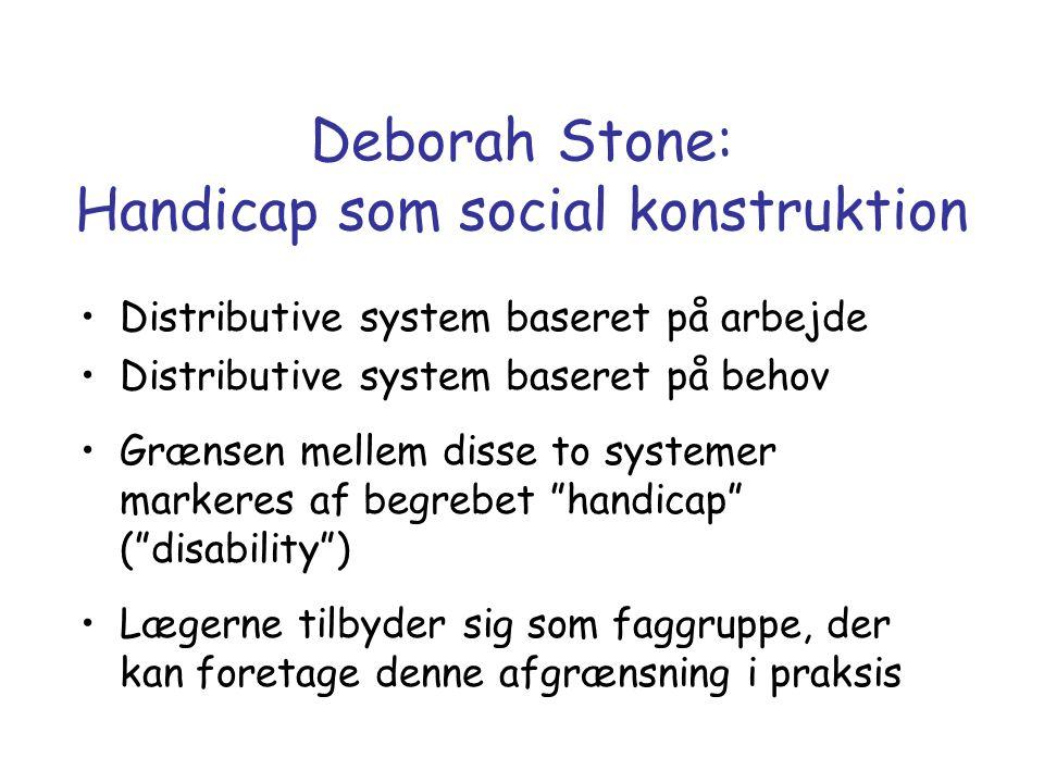 Deborah Stone: Handicap som social konstruktion