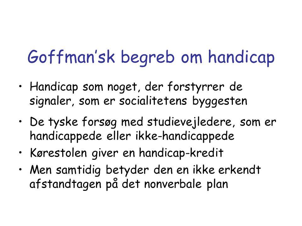 Goffman'sk begreb om handicap
