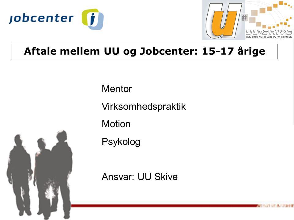 Aftale mellem UU og Jobcenter: 15-17 årige
