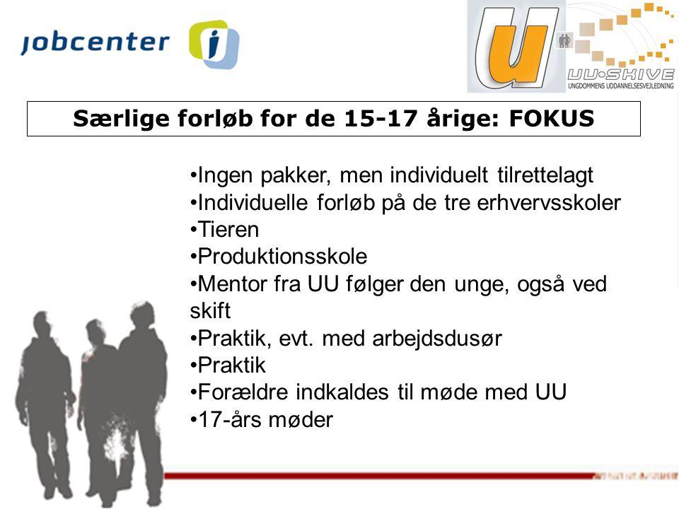Særlige forløb for de 15-17 årige: FOKUS