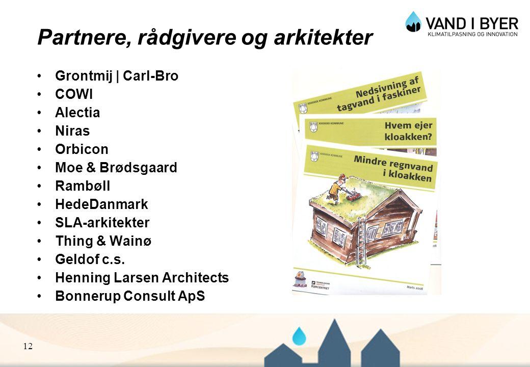 Partnere, rådgivere og arkitekter