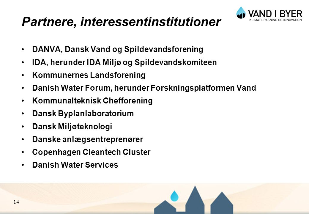 Partnere, interessentinstitutioner