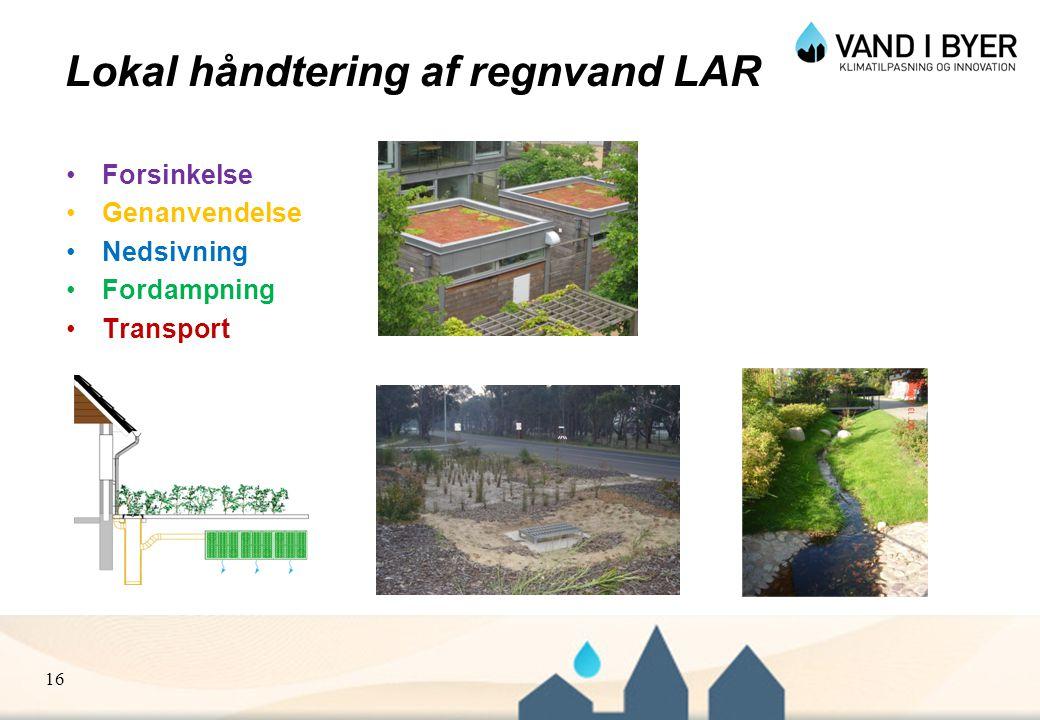 Lokal håndtering af regnvand LAR