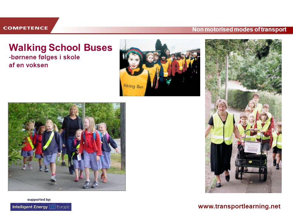 Walking School Buses børnene følges i skole af en voksen