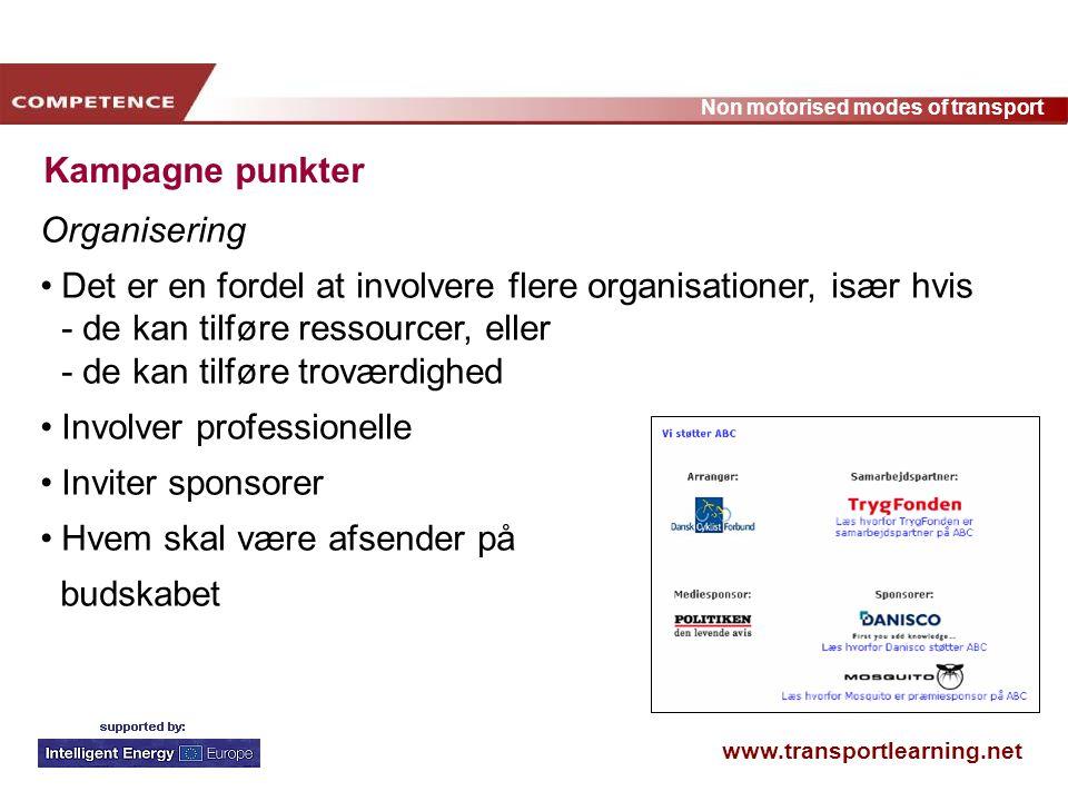 Kampagne punkter Organisering.