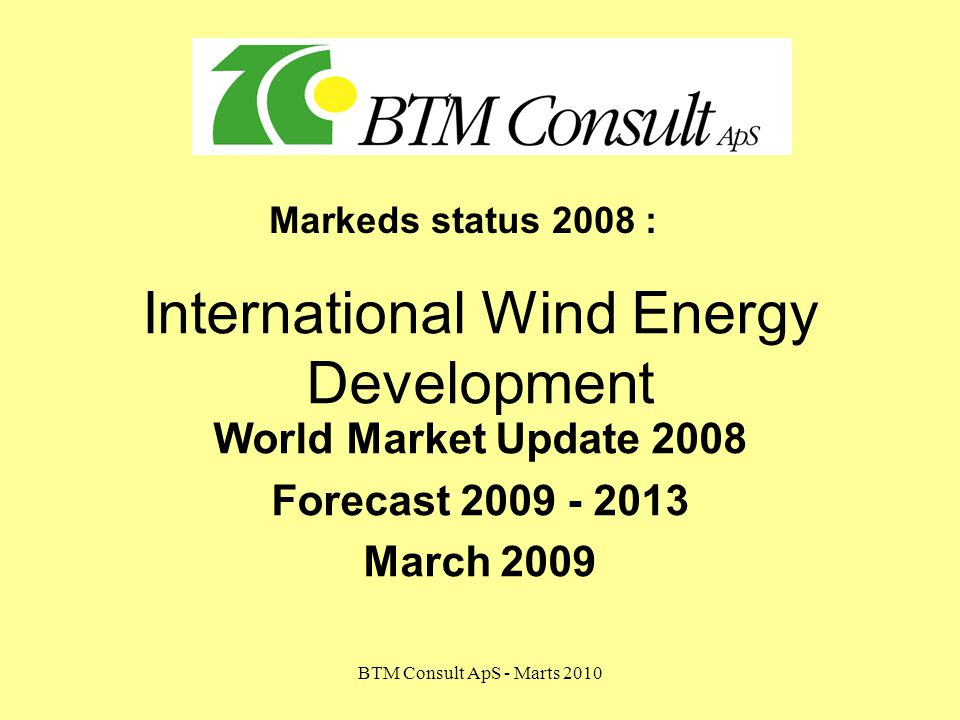 International Wind Energy Development