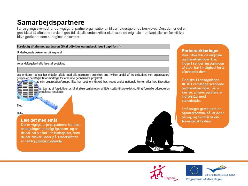 Samarbejdspartnere Partnererklæringer Læs det med småt 11