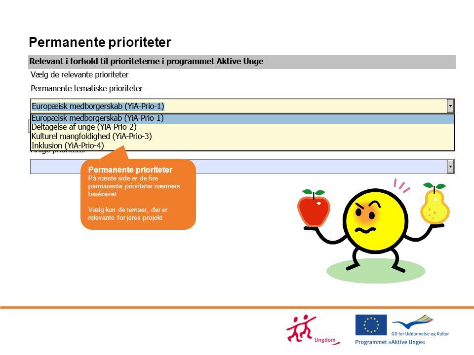 Permanente prioriteter