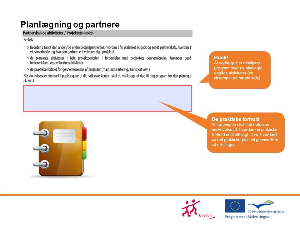 Planlægning og partnere