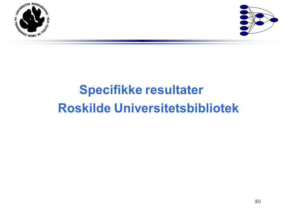 Specifikke resultater Roskilde Universitetsbibliotek